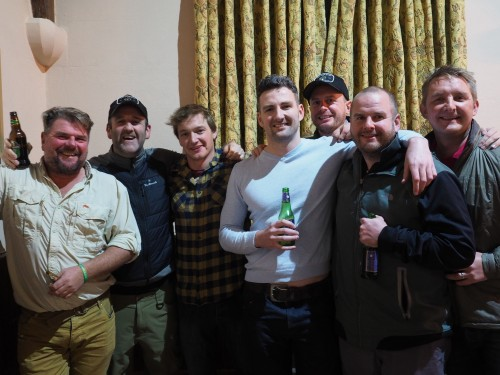 Adam Stafford (Wet Your Knot), Phil Ratcliffe (GAIA, FFF, pro guide)  Scott Webster (big game stalker)  Mark Brando (river/game keeper)  Tim Roberts (Islay Scottish Loch's)